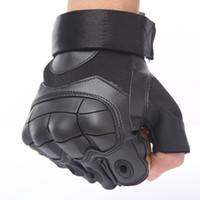 ingrosso le dita di arrampicata-Tactical Army combattimento tagliato i guanti a prova di Formazione Fitness Sport Finger Gloves Mezza esterna di protezione escursionismo Ascensione Shooting Gloves Paintball
