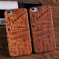 Wholesale Wholesaler For Music Instruments - For iPhone 5 6 6Plus 7 7Plus Cool Rock Music Instrument Wood Case For SAMSUNG Galaxy S6 S7 Edge S8 plus