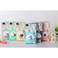 Wholesale Iphone Students - Cute Cat Macarons 3.5mm in-ear Stereo Earphones with Earphone Case With MIC for Phone Xiaomi Girls Kid Child Student for MP3 MP4 Gift