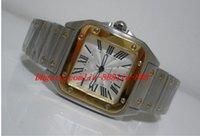 relógios ouro xl venda por atacado-Relógios de luxo Relógio de Pulso Galbee XL dos homens de Alta Qualidade Automático 18kt Ouro Amarelo Aço W20099C4 Tag Relógios Homens Assistir