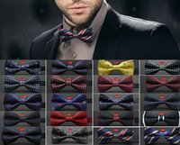 Wholesale Men Neck Bow Tie - Unisex Neck Bowtie Bow Tie Adjustable Bow Tie high quality metal adjustment buckles multi-style