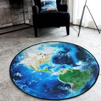 Wholesale HStarry Sky Northern Europe Design Round Carpet For Bedroom Computer Chair Area Rugs Children Bedroom Play Mat Coffee Table Mat