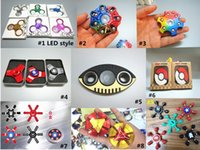 Wholesale Toy Iron Ball - Rainbow Metal Fidget Spinner Poke Ball Captain America Iron Man Spider Man LED Hexagon Hand Spinners EDC Fingertips Decompression Toy DHL
