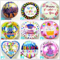 Wholesale Wholesale Happy Birthday - wholesales 18 inch Helium Foil balloon Happy birthday balloon Kids Birthday Party decoration balloon mixed style Free shipping