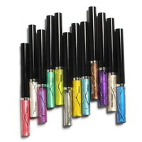 Wholesale Wholesale Glitter Flowers - Wholesale- 12pcs colors Music Flower Professional Shimmer Liquid Eyeliner Pencil Pen Waterproof Brilliant Glitter Eye Liner Shadow Makeup