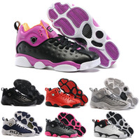 Wholesale Ii Online - Newest Jumpman Team 2 II GS Retro 13 Men Women Basketball Shoes Black Purple Cool Grey Navy Blue Gym Red Retro Shoes Online