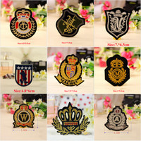 Wholesale Military Overall Uniform - 10pcs Military Patch For Clothing Biker Patches parches Embroidered Jacket Jeans Fabric Patchwork Overcoats Overalls Uniform Badge Appliques