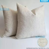 Wholesale fine weave - 1 Piece Sell Linen-Cotton Blended Grey Plain Pillow Case Grey Blank Linen Pillow Cover 240gsm Natural Fine Linen Cushion Cover
