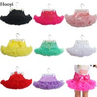 Wholesale Hooyi Baby Girls Tutu Skirt Children Ball Gown Bubble Skirts For Girl Dancing Skirt Kid Ballet Clothes Solid Color Bebe Vestidos Dress