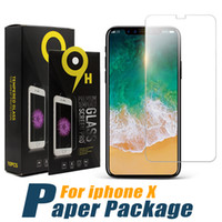 Wholesale Iphone Screen Protectors Packaging - For iPhone X 8 Tempered Glass Screen Protector For Iphone 7S Iphone X Edition Film 0.33mm 2.5D 9H Anti-shatter Paper Package