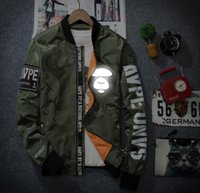 Wholesale Military Style Jacket Men Green - Jacket Ma1 Thin Style Army Green Military motorcycle Flight Jacket Pilot Air Force Men baseball Coats Bomber Jacket Hooded