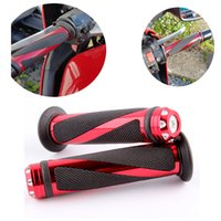 Wholesale Bar Hands Bike - 7 8 UNIVERSAL BAR END WEIGHT ALUMINUM MOTORCYCLE BIKE HANDLEBAR GEL HAND GRIP FREE SHIPPING