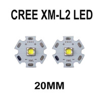 Wholesale Led Diy Heatsink - Cree XM-L2 U2 1A White Light cree xml2 LED Emitter Electronic DIY Parts High Power with 20mm Heatsink