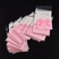 Wholesale Lace Bags Gifts - 100pcs lot Mini flower lace bow gift packaging opp bag self-adhesive bags candy bag biscuit cookies bags