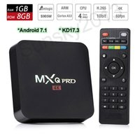MXQ Pro Android 7.1 TV Box Amlogic S905W Cuádruple núcleo Smart PC 1G 8G Apoyo Wifi 4K H.265 Streaming de Google Media Player Home Movie