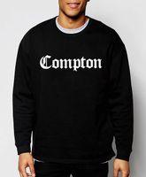 Wholesale compton sweatshirt - Wholesale-fashion mens sweatshirts Compton 2016 new autumn winter hoodies hip hop streetwear loose cotton crop top brand clothing