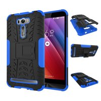 Wholesale silicone cover for asus - For Asus Zenfone 2 Laser ZE601KL ZE600KL Tough Impact Case Heavy Duty Armor Hybrid Anti-knock Silicon Hard Back Cover With Stand