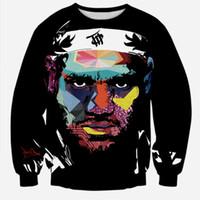 Wholesale Tie Dye Hoodies Fashion - Wholesale-Alisister 2016 New Fashion Autumn Sweatshirts Star LeBron James Sweatshirt Men Women's 3d Hoodies Tie-dye Harajuku Sweatshirts