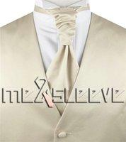 Wholesale Men S Gold Waistcoats - Hot saler!!! man's formal solid champage suit waistcoat