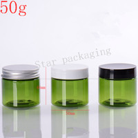 Wholesale Plastic Travel Jars - Wholesale- 50pcs 50g green Plastic Empty Makeup Jar Pot Travel Face Cream Lotion Cosmetic Container empty skin care cream plastic container