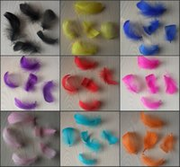 Wholesale Goose Hat Wholesale - wholesale 4-6cm 100pcs colors natural goose feather for DIY handmade carft accessories for hair costume mask  sinamay hat make up