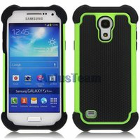 Wholesale Soccer Phone Cases - New Shockproof 3 iN 1 TPU Football Phone Back Case PC Rubber Silicone Colorful Armor Soccer Cover Skin Shell For Samsung Note 4 S6 Edge Plus
