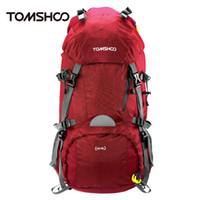 Wholesale Tactical Knapsack - TOMSHOO 2016 Unisex 45+5L Travel Backpack Knapsack Outdoor Sport Hiking Camping Backpack Mountaineering Bag Tactical Backpack