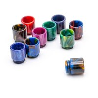Wholesale Tip Rings Wholesale - Colorful Epoxy Resin Drip Tips Smoke Mouthpiece Wide Bore Dual O Rings for Smoke TFV8 BIG Baby TFV12 Kennedy 24 RDA Atomizer Tank