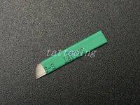 nakış kalemi kaşları toptan satış-100 ADET 0.2mm Çapı 16 pin Kalıcı Makyaj Için Blade Manuel Kaş Dövme Kalem İğneler 3D Kalıcı Microblading Nakış