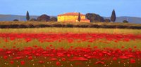 "Wholesale Field Poppies - Framed ITALIAN PAINTING ""PAESAGGIO TOSCANO"" TUSCANY POPPIES FIELD,Pure Hand Painted Art oil painting Canvas,Multi size Free Shipping YDL010"
