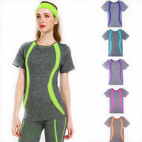 Wholesale Exercise Apparel - Suitable for Women Sport shirts athletic outdoor apparel exercise fitness shirts gym body medanics jogging yoga outfits shirts
