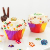 Wholesale Cup Jelly - Camo Silicone Cupcake Liners 7cm Camouflage Colorful Muffin Cups Round Shaped Cake Baking Molds Jelly Mold OOA2272