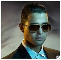 Big Frame Men Women Gafas de sol de moda Star Brand Design Colorful Mirror Glasses Plat Top UV400 Metal de protección