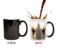 Wholesale Walking Dead Christmas - The Walking Dead Mug Changable Color Coffee Mug Heat Reveal Sensitive Tea Cup Christmas New Year Gift