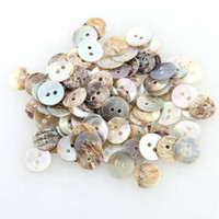 Wholesale Buttons Sewing Pearls - 100 PCS 10mm Natural Shell Sewing Buttons Color Japan Mother of Pearl MOP Round Shell 2 Hole Button Sewing Accessories SN