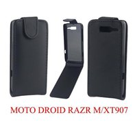 Wholesale Phone Covers For Razr - Phone Bags Cover For Motorala MOTO Droid RAZR M   XT907 phone case Back coque PU leather Flip Vertical Up-Down Open skin pouch
