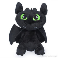 Wholesale Tooth Doll - The explosion of 18cm-30cm Dragon Master 2 teeth doll T00thless night furys plush toys to 2 Plush Doll