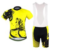 Wholesale Clothes Cyclist - 2016 New! Yellow Cyclists Men's Summer Cycling Jersey Set. Short Sleeve Bicycle Cycling Clothing Outdoor Sportswear + Bib Shorts .
