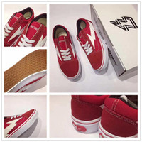 Wholesale Art Original Wholesales - [With Original Box] Revenge X Storm Van Calabasas Stylist Ian Connors Kanye West Red Black Running Shoes Canvas Shoes Sneakers 2017