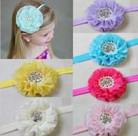 inci tül çiçek kafa bandı toptan satış-Bebek Kız Çocuk Saç Bantları Dantel Şifon Inci Taklidi Boncuk Çiçek Inciler Çiçekler Bebek Tül Çocuk Saç Aksesuarları Bantlar