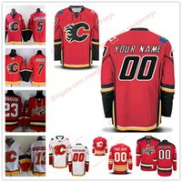 a53cf184e Stitched Custom Calgary Flames mens womens youth kids OLD BRAND Red Personalized  Customized third home White ice Hockey cheap Jerseys S-4XL