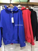 Wholesale Men Strapless - men hoodie 2017 hip hop vetements hoodie sweatshirt men women Strapless pullover hoody kanye west oversized hoodie justin bieber