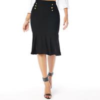 Wholesale Tube Ladies Dresses - High Quality Ladies Girls Fancy Skirts Dress Up Hen Party Women's Basic Stretch Cotton Foldover Waistband Bodycon Tube Mini Skirt