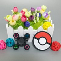 Wholesale Cheap Kid Play - Cheap Silicone Material PokeBall Captain America Fidget Spinner Luminous Play Station Hand Spinners EDC Decompression Finger fingertip Top