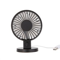 Wholesale mosquito ceiling fan - Portable Creative Double-vane Mini USB Desk Fan For Home Office ABS Electric Desktop Computer Fan With Double Side Fan Blades