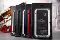 estojos impermeáveis para iphone 5s venda por atacado-Caixa de metal à prova d 'água de alumínio à prova de choque de sujeira móvel casos de telefone celular capa para iphone 8x5 / 5s 6 7 plus samsung s7 borda