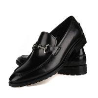 tan formale schuhe großhandel-Art und Weise Mens-Geschäfts-Schuh-echtes Leder-Brown tan / schwarzes formales Oxfords Kleid beschuht breathable Mens-Hochzeits-Schuhe Eur 46 47