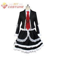 Wholesale Celestia Ludenberg Cosplay - Danganronpa Dangan Ronpa Celestia Ludenberg Uniform Long Sleeve Top Short Dress Anime Halloween Cosplay Costume