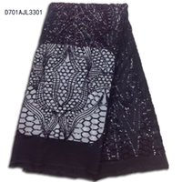 Wholesale Charm Sequin Fabric - Wholesale latest christmas africa sequins lace fabric  high quality charming french tulle net lace  fashion nigeria soluble lace D701AJL33