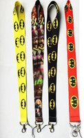 Wholesale Id Card Models - New Wholesale 50pcs 4 models mixed Fashion Cartoon Batman & Robin Toy KEYS ID card Neck Lanyard straps free shipping